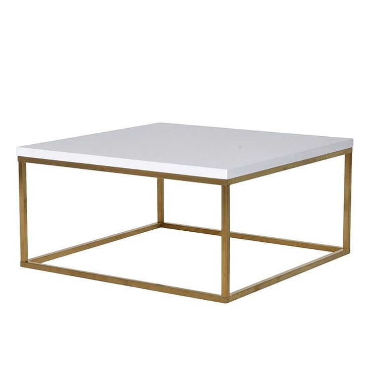 Santorini Brushed Gold Gloss White Coffee Table