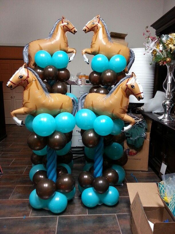 Pony Columns And Centerpieces Rodeo Birthday Parties