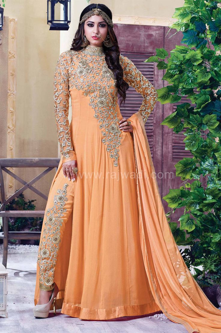 Peach colored dresses pics for eid