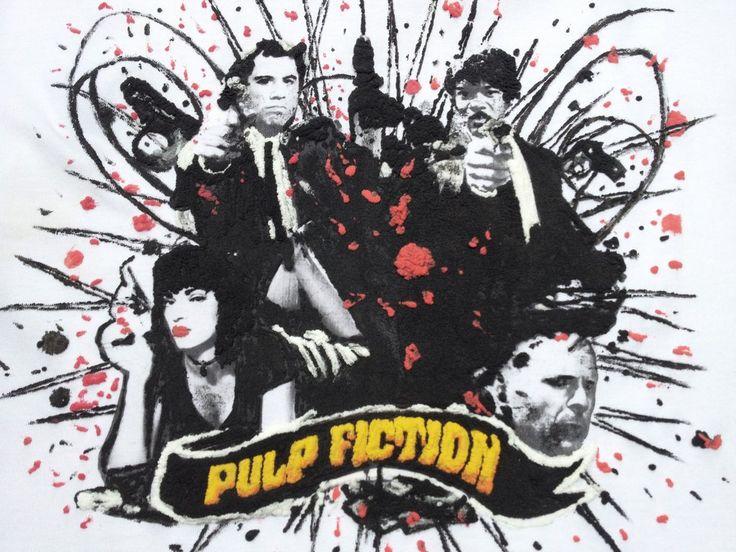 Pulp Fiction T-shirt Painted 3d