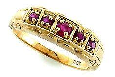 Antique Ruby Ring 9ct 9k Solid Gold 14k 18k Platinum Womens
