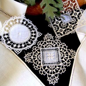Needle lace has a long history related to women's creativity in Emilia Romagna and not just in Burano the famous needle island near Venice.