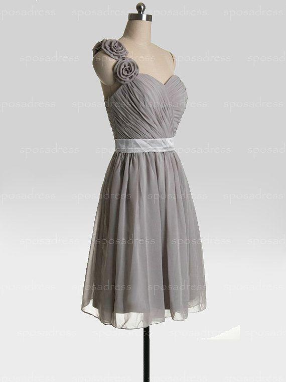 Bridesmaid dresses grey bridesmaid dress chiffon by sposadress $96