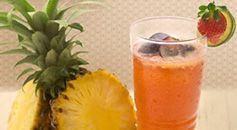Bahan-bahan :200 ml Buavita Grape3 Slice nanas20 ml Air gula8 ml Sirup coco pandanCara membuat:Siapkan air gula dengan mencampur 300 gram gula dengan 300 ml air panas.Blender semua bahan-bahan dengan kecepatan tinggi.Tuang minuman ke dalam 1 gelas saji.Hias dengan menambahkan 1/2 lemon, 1/2 strawberry, grape di tepi gelas saji. Lalu letakkan daun mint.Cara penyajian :Irisan kiwi dan 1/4 nanas di tepi gelas irisan buah anggur di dalam minuman