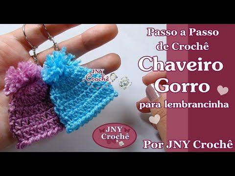 Chaveiro Gorro de crochê pra lembrancinha por JNY Crochê - YouTube