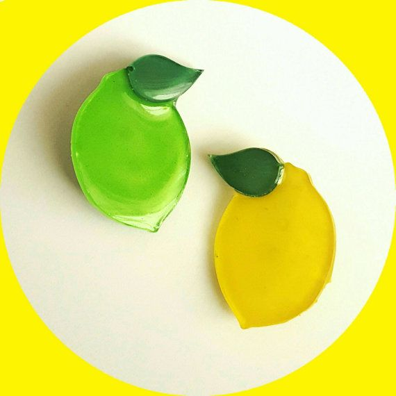Mini Lemon & Lime Brooch, Vintage Inspired, Novelty brooch, Rockabilly…