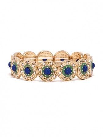 pretty color combo in this enamel bracelet.