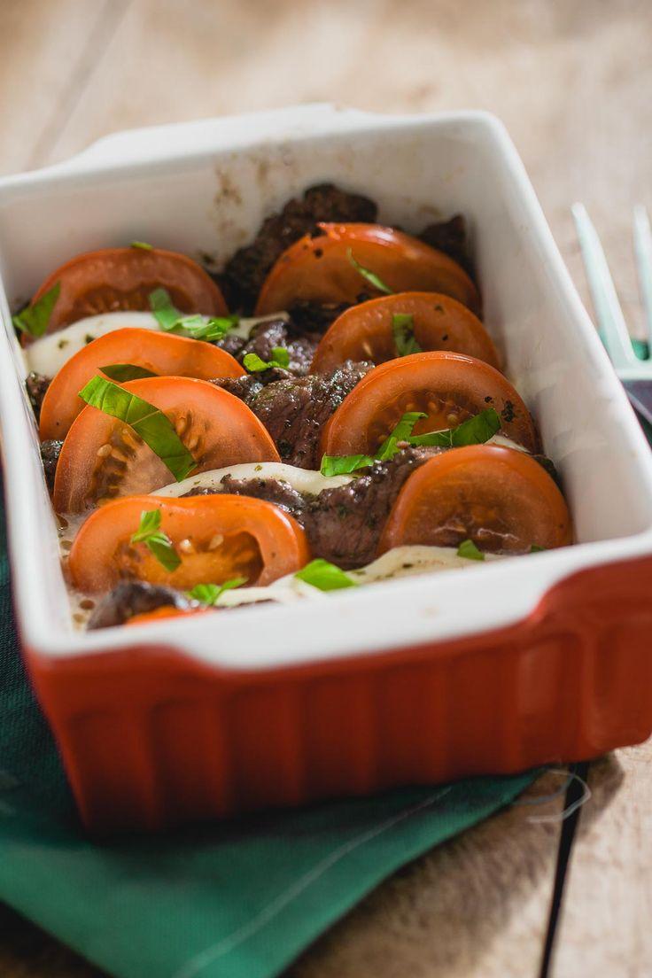 Biefstuk caprese met Italiaanse marinade, de oven doet al het werk voor je en…
