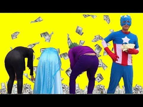 джокер и Женщина кошка против Эльза деньги соперник - человек паук с кап...