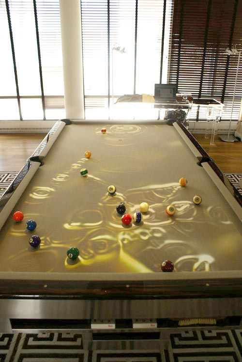 27 Interior Designs with Custom pool tables Interiorforlife.com Projector Pool Table