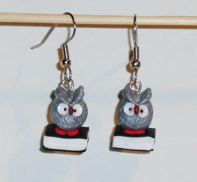 Ohrhänger - Ohrringe Eule handgemacht Fimo Ohrhänger Damen - ein Designerstück von ausgefallene-Ohrringe bei DaWanda