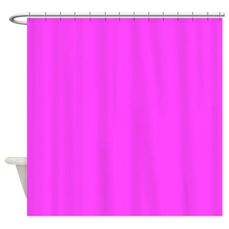 Solid Hot Pink Shower Curtain