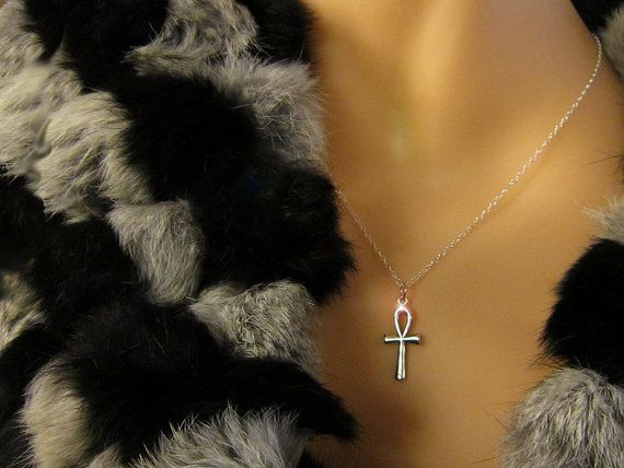 67 best necklaces other images on pinterest saints santos and sterling silver ankh necklace pendant w sterling chain egyptian ankh vintage new old stock 925 sterling eternal life aloadofball Images