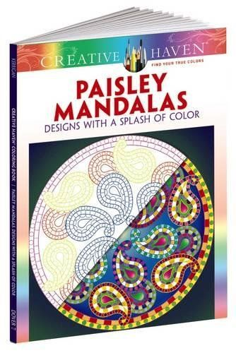 Introducing Creative Haven Paisley Mandalas Designs With A Splash Of Color Adult Coloring Great Product