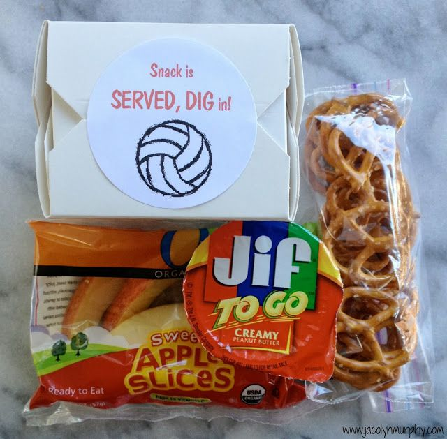 Jac o' lyn Murphy: My New Job...Volleyball Snack Mom Great idea - do they have sun butter to go packets?