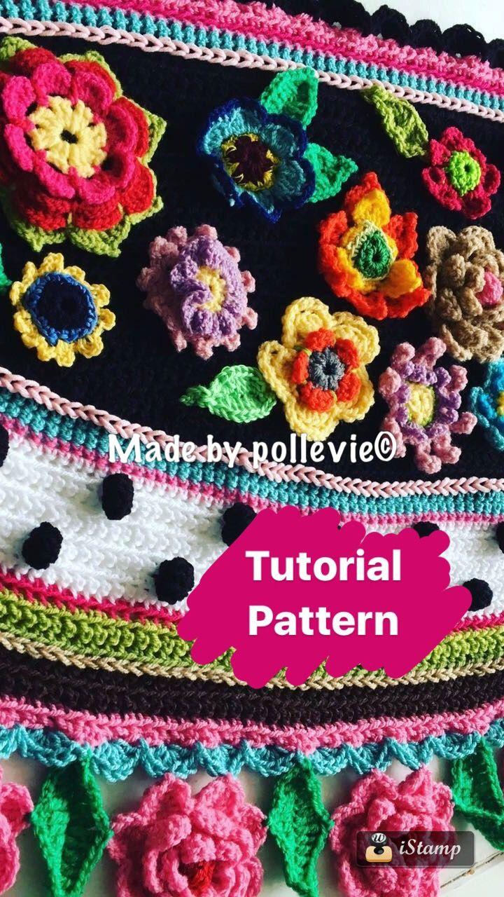Pattern crocheted shawl crochet shawl gehaakte omslagdoek  Polleviewrap  https://www.etsy.com/nl/shop/Pollevie?ref=search_shop_redirect