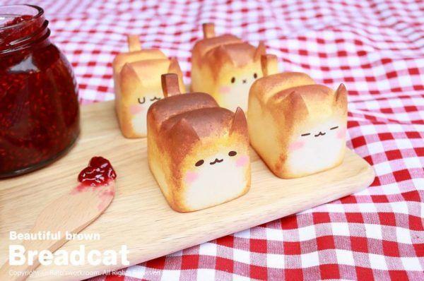 Mini Cat Bread from Korea