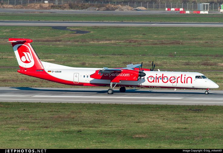 De Havilland Canada DHC-8-402Q Dash 8, Air Berlin (operated by LGW), D-ABQM, cn 4119, first flight 1/2006 (Jeju Air), Air Berlin delivered 30.9.2014. Active, for example 12.6.2016 flight Berlin - Stuttgart. Foto: Dusseldorf, Germany, 27.2.2016.