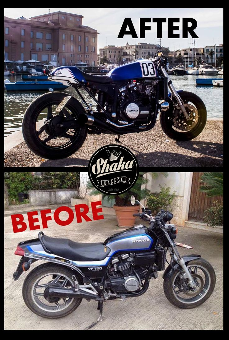 Classified moto kt600 the garage cafe - Shaka Garage Bari Before After