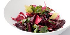 Bruno Loubet here reveals how to create this stunning beetroot salad with walnut oil and parsley - gorgeous for the summer.