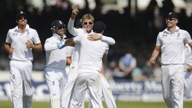 Day four, second Test, Lord's - England 361 (Bell 109 / Harris 5-72) and 349-7 dec. (Root 180, Bell 74) beat Australia 128 (Swann 5-44) and 235 (Swann 4-78) by 347 runs. England lead the five-match Ashes series 2-0. England thrashed Australia by 347 runs with a day to spare in the second Test at Lord's to assume a commanding 2-0 lead in the Ashes series.