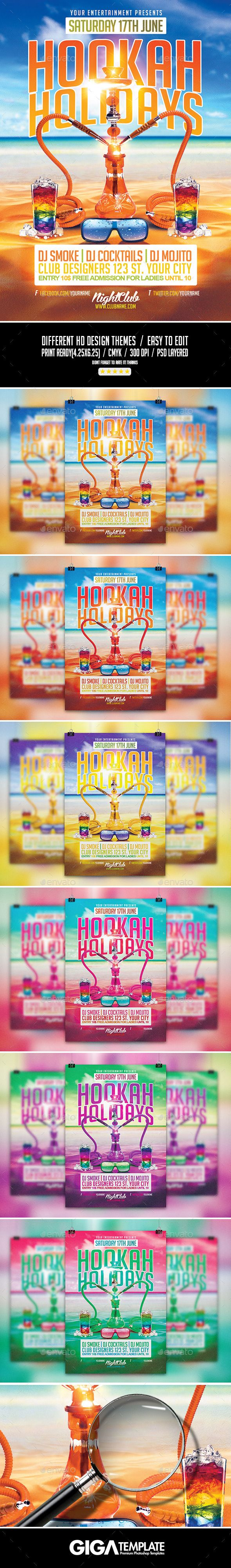 Hookah Holidays | Summer Party PSD Flyer Template