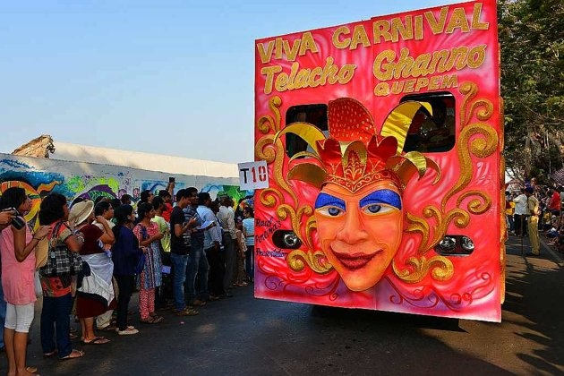 Colourful floats at Goa Carnival 2013