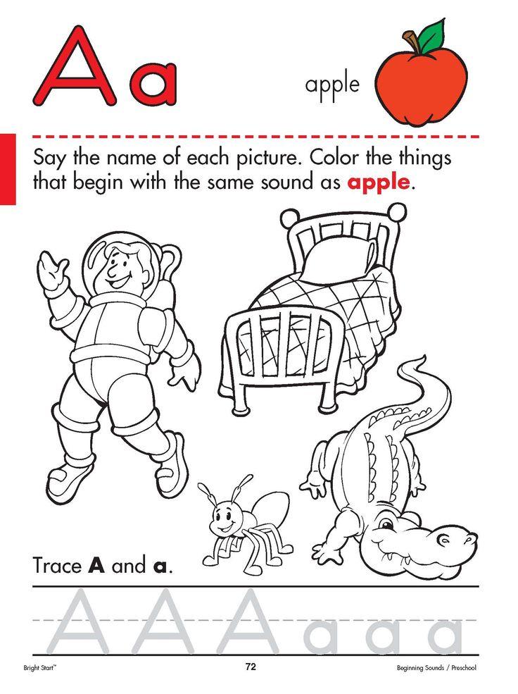 language preschool 75 best language arts images on worksheets 895