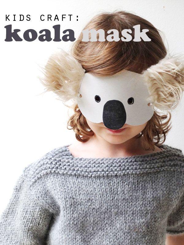 Kids Craft: Koala Mask with Template
