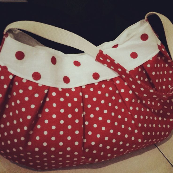 #cottonbag #cottontime butercup polkadot bag