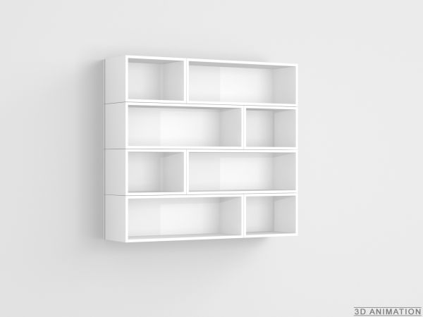 CD rack in white / CD Wandregal in weiß