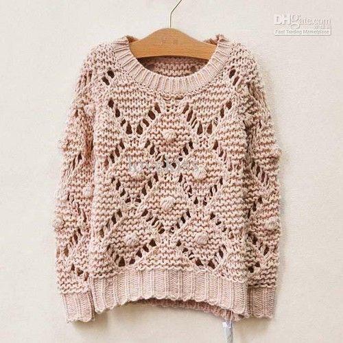 Suéteres de lana ropa de los niños Moda Cuello Pullover Niños Ropa de punto Jerseys Niño Ronda de manga larga Tops Girls Pullover.jpg Casual lindo