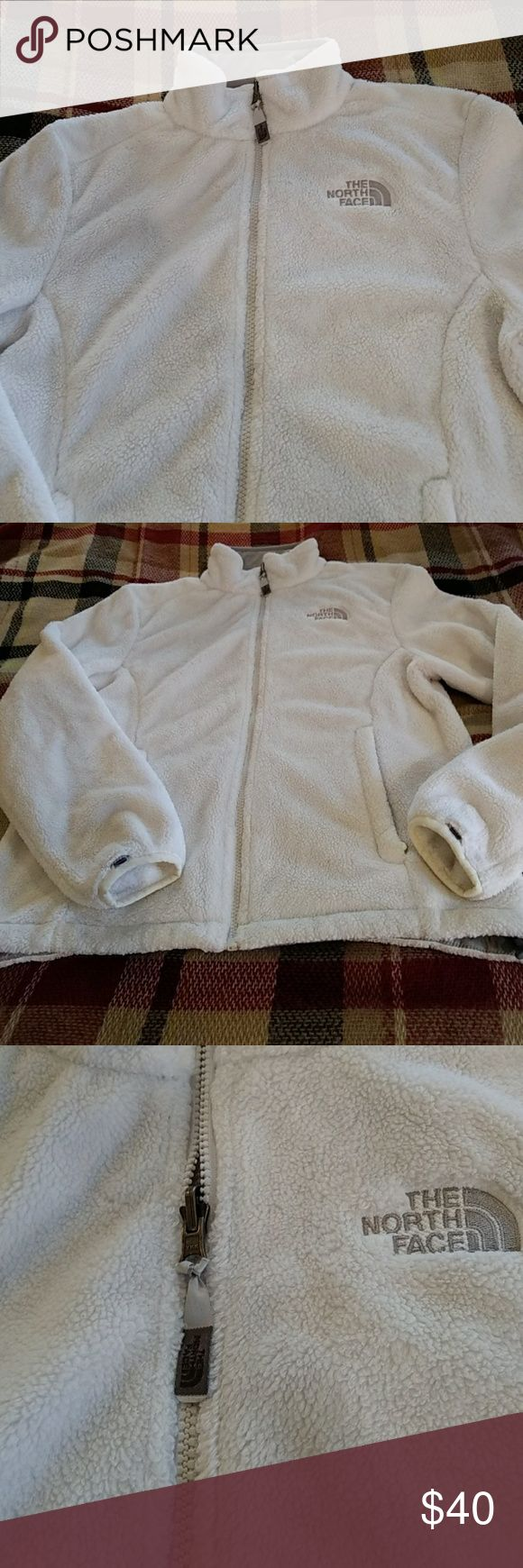 The North Face fleece zip up The North Face zip up fleece in excellent condition women's small/petite white The North Face Tops Sweatshirts & Hoodies