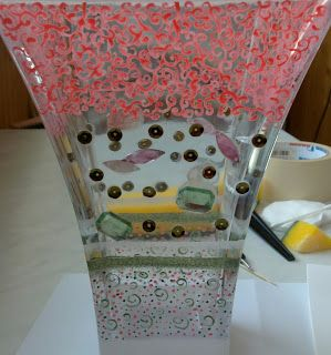 Handmade painted vase