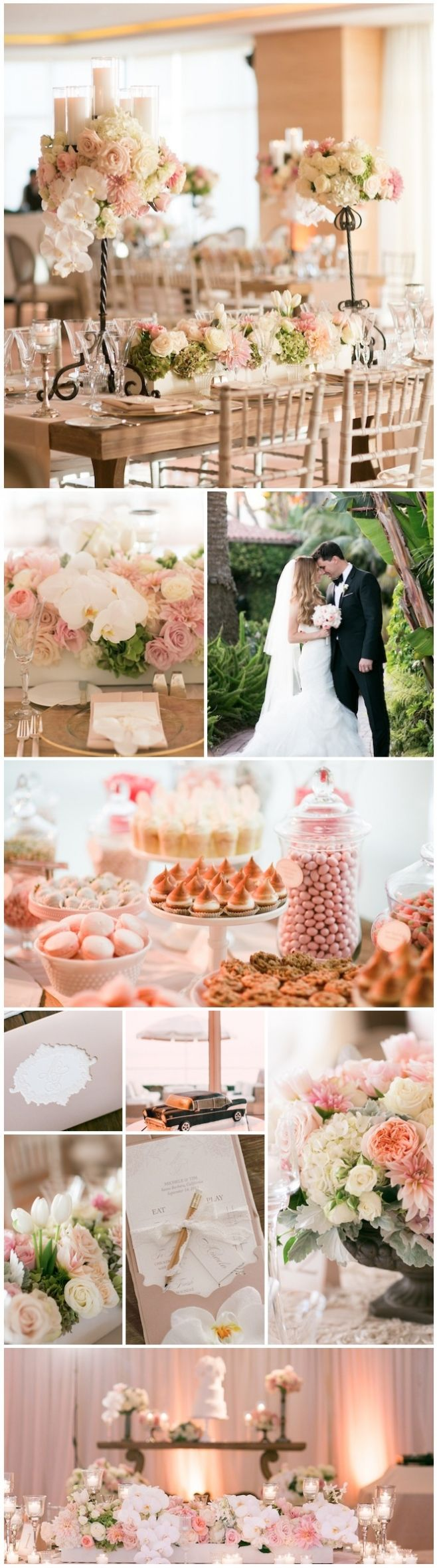 Blush pink #wedding at four seasons santa barbara in La Pacifica Ballroom with 180 degree #Oceanside views  Blush Pink- The Most Requested Wedding Color for 2013 » Ooh LaLa La Fete