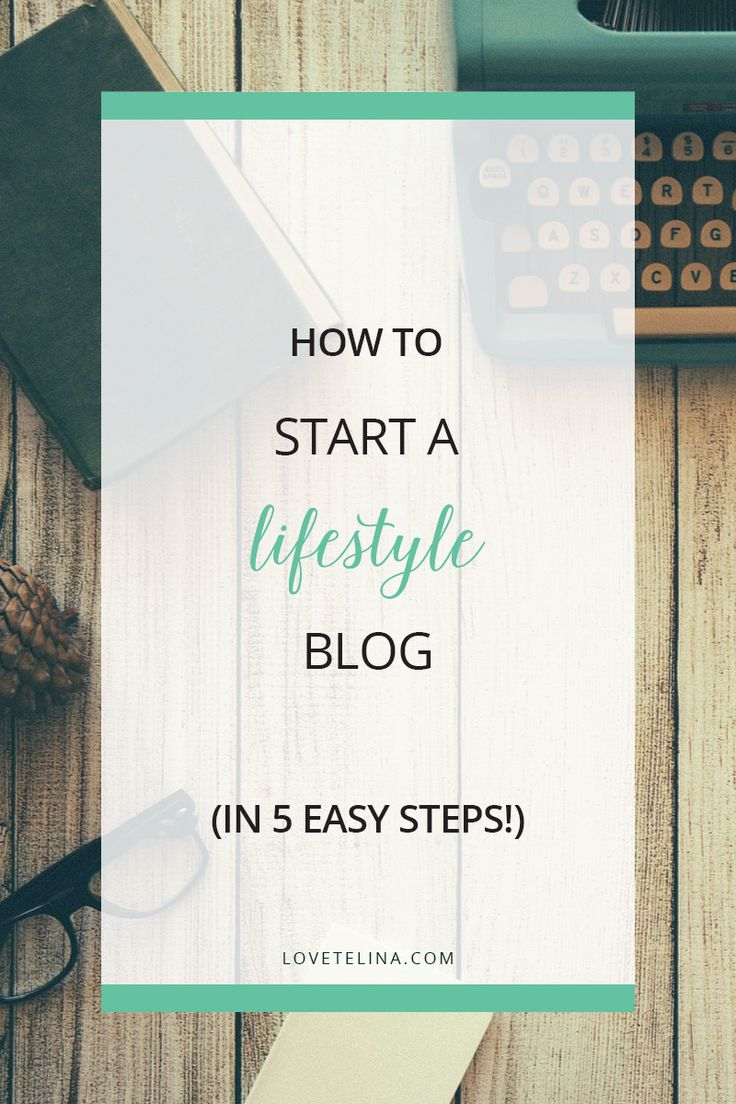 Want to know how to start a lifestyle blog? This is a step-by-step guide that will show you how to start a blog in just five simple steps!