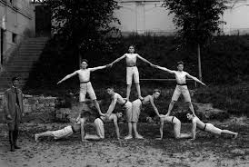 Image result for human pyramid images