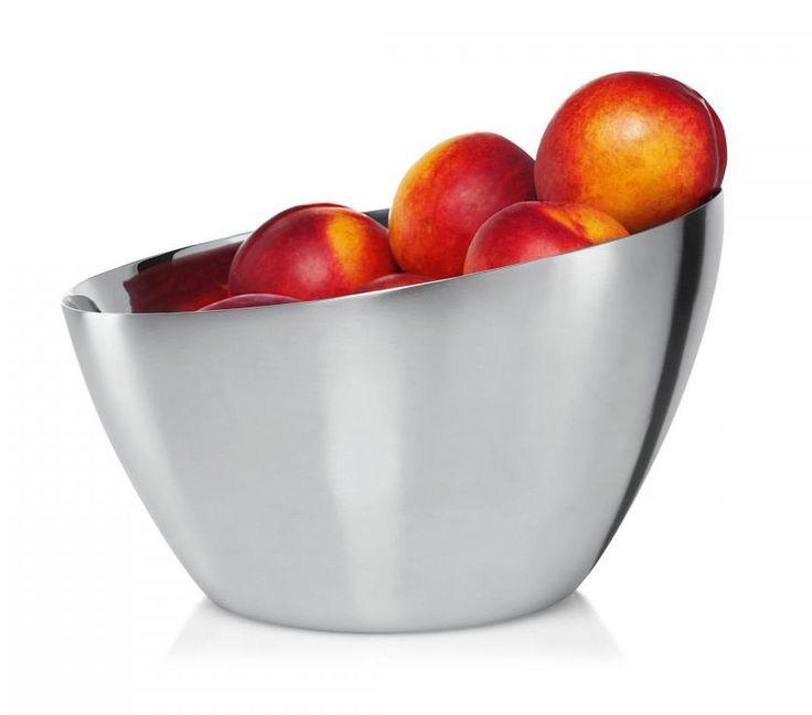 Philippi Mona - luxusní nerezová mísa na ovoce v kombinaci broušené a leštěné nerezové oceli.