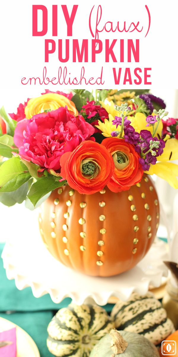 DIY Fall Faux Pumpkin Vase | Fall Decor | Vase | Pumpkin DIY | Floral Arrangement | Fall Centerpiece www.styleyoursenses.com