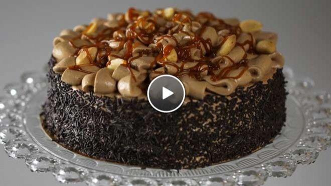 Amerikaanse Pindakaastaart - recept | 24Kitchen