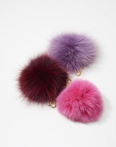 403f8c2e893 GiorgioG s Murmansky fur pon-pons are a colorful accessory that can be the  perfect decorative