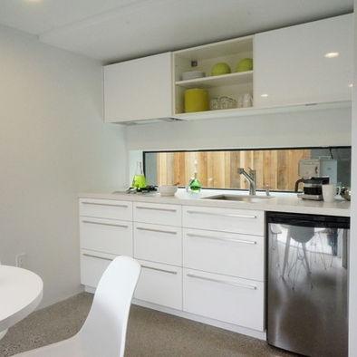Small Kitchen Design - window splashback