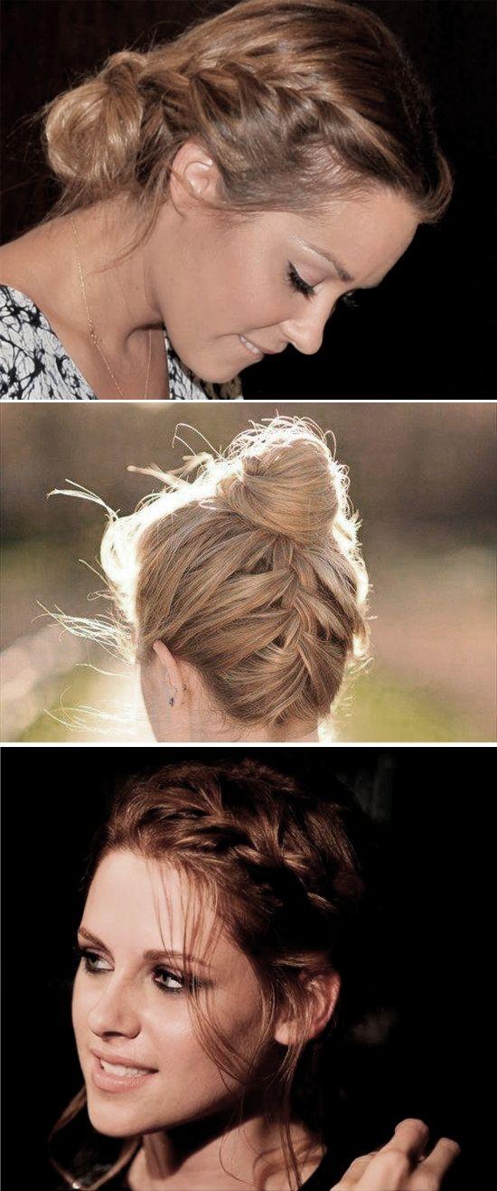 Só Para Meninas: Penteados: coque com trança