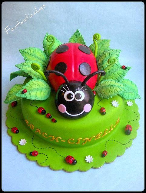 Torta Coccinella /Ladybug Cake | by Fantasticakes (Cécile)