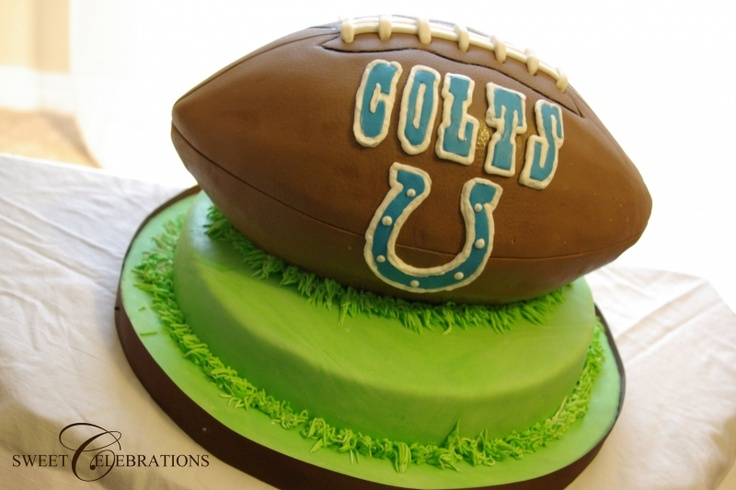 Indianapolis Colts Football Cake