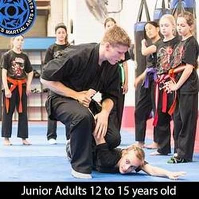 Self Defence at this age is very important, but that doesn't mean that you should only be thinking about kicking or punching your way out of a bad situation.  With training you can learn how to control people so they're not badly injured aside from a bruised ego.  http://www.guestsmartialarts.com.au/teens-martial-arts.html