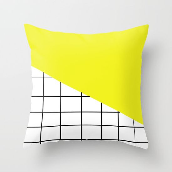 Grid and Sunshine Throw Pillow by BravelyOptimistic | Society6
