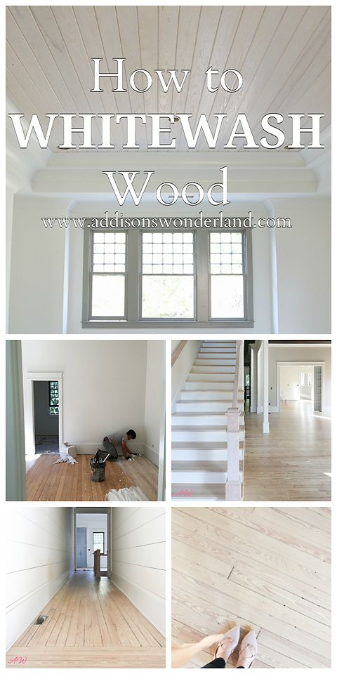 How to Whitewash Wood Flooring! The perfect custom white stain formula and tips for creating your dream hardwood flooring!