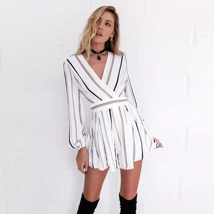 Item Type: Jumpsuits & Rompers Gender: Women Style: Casual Pattern Type: Striped ...