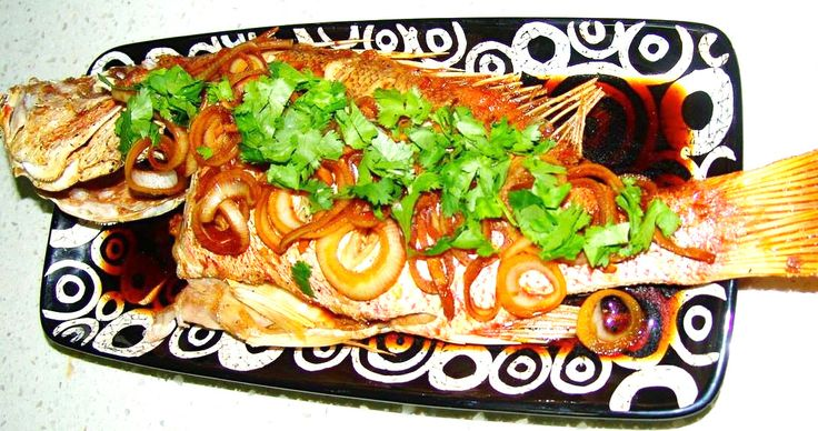 Baked fish in ginger, chillies and soy sauce #fish #bakedfish